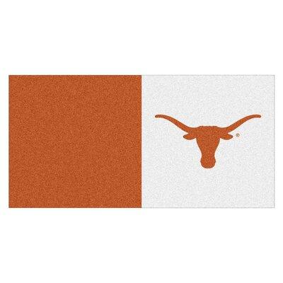 Collegiate 18 x 18 Carpet Tiles in Multi-Colored NCAA Team: Texas