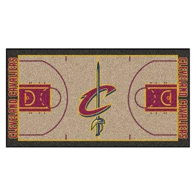 NBA - Cleveland Cavaliers NBA Court Runner Doormat Rug Size: 25.5 x 46