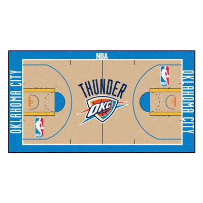 NBA - Oklahoma City Thunder NBA Court Runner Doormat Rug Size: 25.5 x 46
