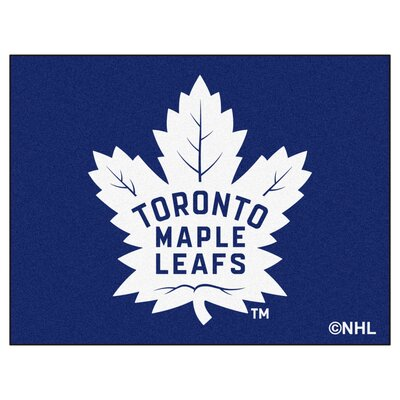 NHL - Toronto Maple Leafs Doormat Rug Size: 210 x 38.5