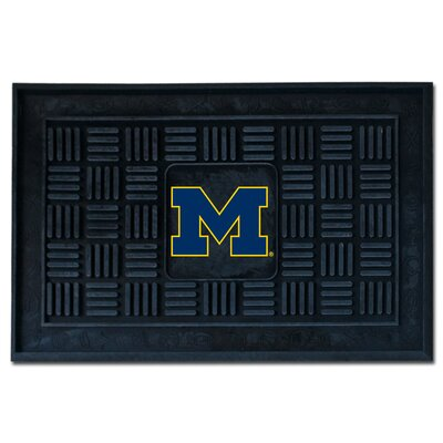 NCAA University of Michigan Medallion Door Mat