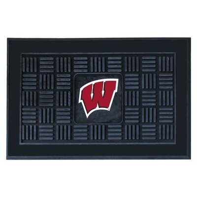 NCAA University of Wisconsin Medallion Door Mat