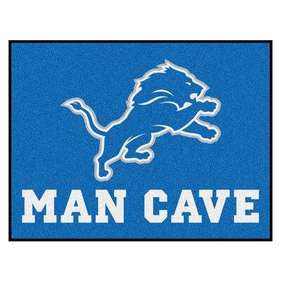 NFL - Detroit Lions Man Cave Starter Rug Size: 2'10