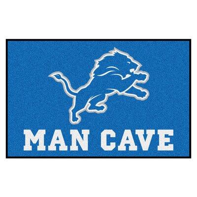 NFL - Detroit Lions Man Cave Starter Rug Size: 17 x 26