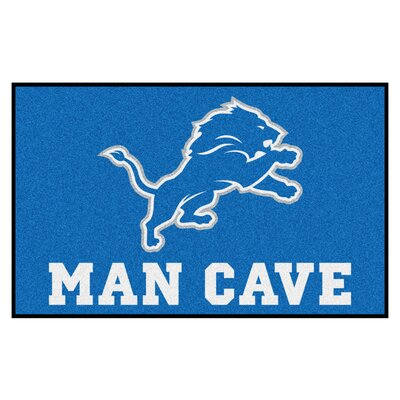 NFL - Detroit Lions Man Cave Indoor/Outdoor Area Rug Rug Size: 5 x 8