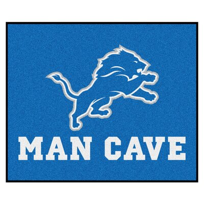 NFL - Detroit Lions Man Cave Indoor/Outdoor Area Rug Rug Size: 5 x 6