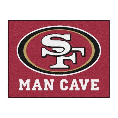 NFL - San Francisco 49ers Man Cave Starter Rug Size: 210 x 37