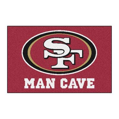 NFL - San Francisco 49ers Man Cave Starter Rug Size: 17 x 26