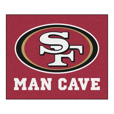 NFL - San Francisco 49ers Man Cave Indoor/Outdoor Area Rug Rug Size: 5 x 6