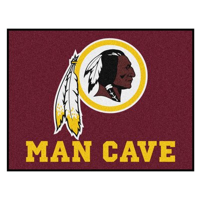 NFL - Washington Redskins Man Cave Starter Rug Size: 210 x 37