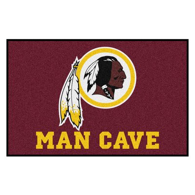 NFL - Washington Redskins Man Cave Starter Rug Size: 17 x 26