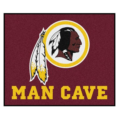 NFL - Washington Redskins Man Cave Indoor/Outdoor Area Rug Rug Size: 5 x 8