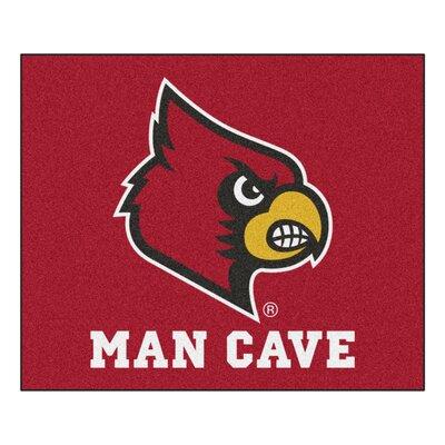 NCAA University of Louisville Man Cave Indoor/Outdoor Area Rug