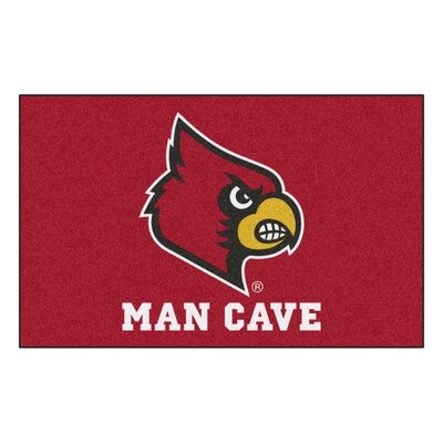 Collegiate NCAA University of Louisville Man Cave Doormat