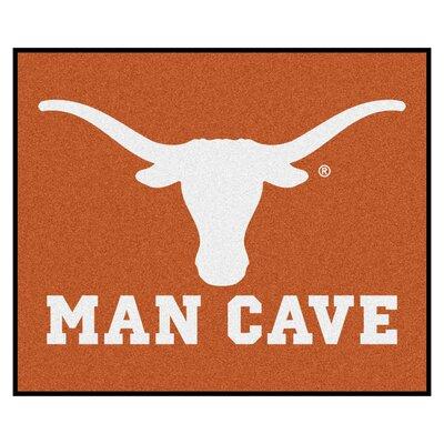 NCAA University of Texas Man Cave Indoor/Outdoor Area Rug