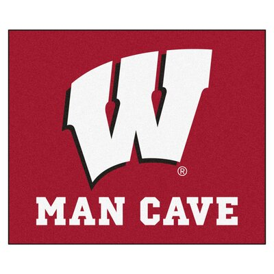 NCAA University of Wisconsin Man Cave Indoor/Outdoor Area Rug