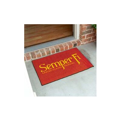 United States Armed Forces Doormat Mat Size: 5 x 6