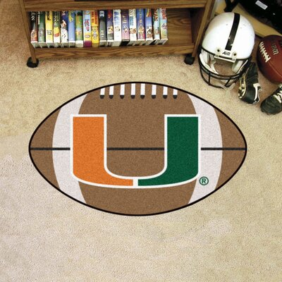 NCAA University of Miami Football Doormat