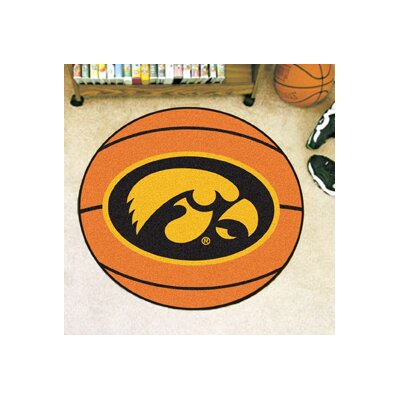 NCAA University of Iowa Basketball Mat