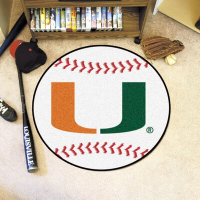 NCAA University of Miami Baseball Mat