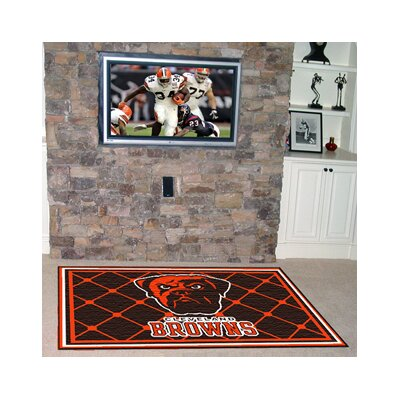 NFL - Cleveland Browns 4x6 Rug Rug Size: 5' x 8'