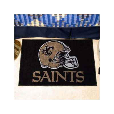 NFL - New Orleans Saints Doormat Rug Size: 5 x 6