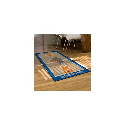 NBA - New York Knicks NBA Court Runner Doormat Rug Size: 2 x 38