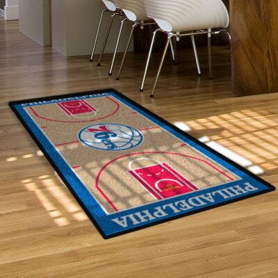 NBA - Philadelphia 76ers NBA Court Runner Doormat Rug Size: 25.5 x 46