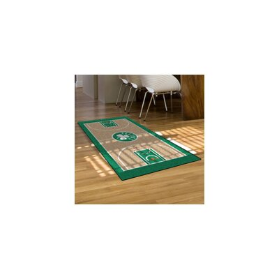 NBA - Boston Celtics NBA Court Runner Doormat Rug Size: 2 x 38