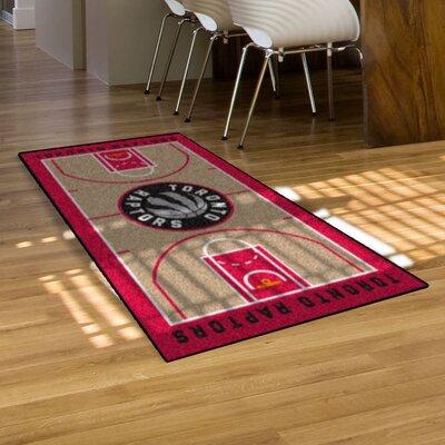 NBA - Toronto Raptors NBA Court Runner Doormat Rug Size: 25.5 x 46