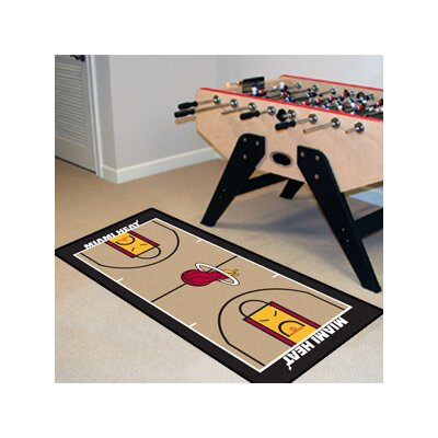 NBA - Miami Heat NBA Court Runner Doormat Mat Size: 25.5 x 46
