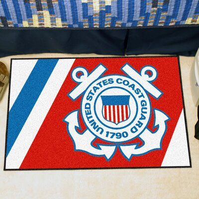MIL U.S. Coast Guard Doormat Rug Size: 18 x 26
