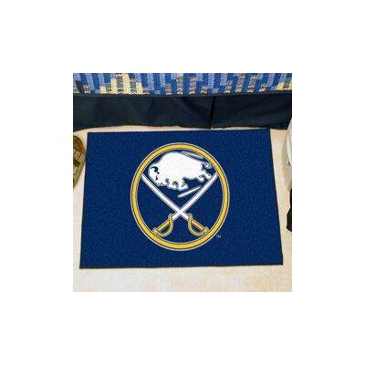 NHL - Buffalo Sabres Doormat Rug Size: 5 x 6