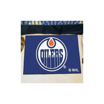 NHL - Edmonton Oilers Doormat Rug Size: 18 x 26