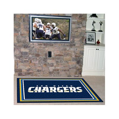 NFL - San Diego Chargers 4x6 Rug Rug Size: 5 x 8