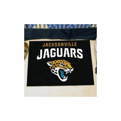 NFL - Jacksonville Jaguars Doormat Rug Size: 18 x 26