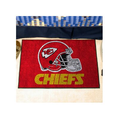 NFL - Kansas City Chiefs Doormat Rug Size: 18 x 26