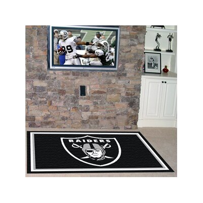NFL - Oakland Raiders 4x6 Rug Rug Size: 4 x 6