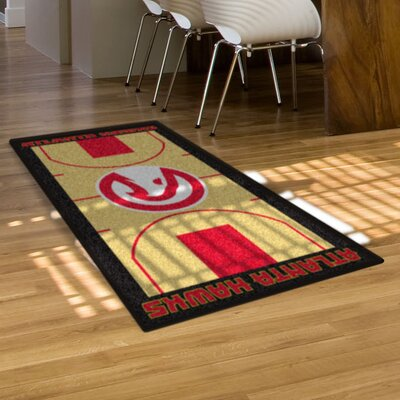 NBA - Atlanta Hawks NBA Court Runner Doormat Rug Size: 25.5 x 46