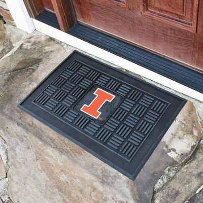 NCAA University of Illinois Medallion Door Mat