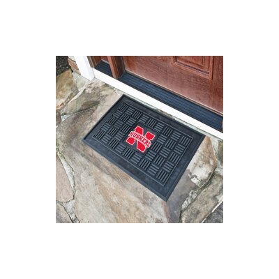 NCAA University of Nebraska Medallion Door Mat