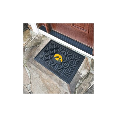 NCAA University of Iowa Medallion Door Mat