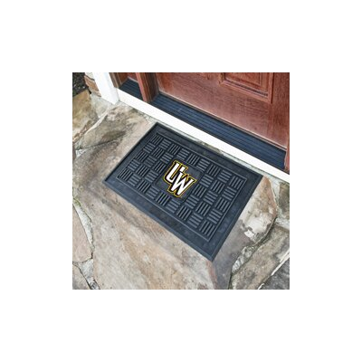 NCAA University of Wyoming Medallion Door Mat