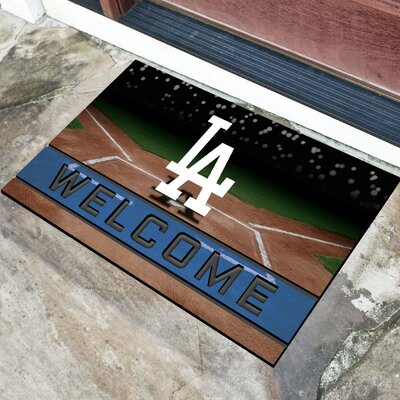 MLB Rubber Doormat MLB Team: Los Angeles Dodgers