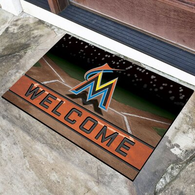 MLB Rubber Doormat MLB Team: Miami Marlins