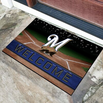 MLB Rubber Doormat MLB Team: Milwaukee Brewers