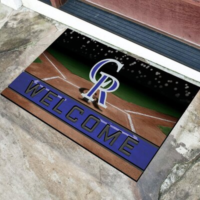 MLB Rubber Doormat MLB Team: Colorado Rockies
