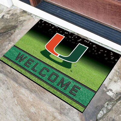 NCAA Rubber Doormat NCAA Team: University of Miami (Florida)