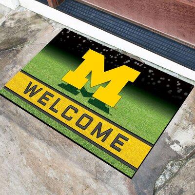 NCAA Rubber Doormat NCAA Team: University of Michigan