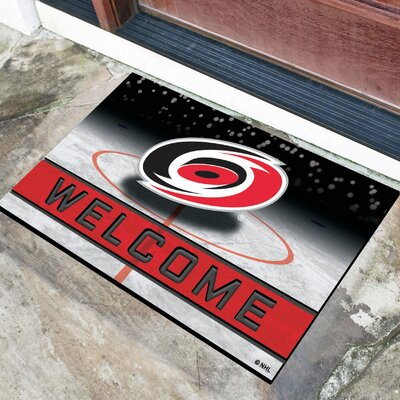 NHL Rubber Doormat NHL Team: Carolina Hurricanes